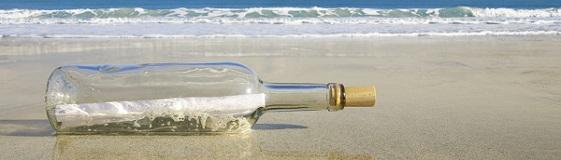 Verloren am Strand: FlaschenpostVerloren am Strand: Flaschenpost